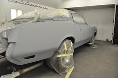"1970 Cutlass SX Coupe Restoration in primer • <a style=""font-size:0.8em;"" href=""http://www.flickr.com/photos/85572005@N00/8151122496/"" target=""_blank"">View on Flickr</a>"