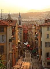 Nice (deus77) Tags: old city sunset france town nice cityscape view dusk cote azur
