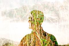 we're born to be wild (am0108) Tags: man tree green film leaf nikon exposure double hong kong fujifilm fe2