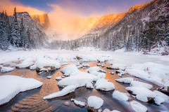 """Dream of Fire""  Rocky Mountain National Park Colorado (Dan Ballard Photography) Tags: park winter mountain lake snow rock landscape colorado image dream rocky pic best national"
