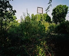 Le Monde Naturel (robert schneider (rolopix)) Tags: signs abandoned mamiya film nature sign mediumformat kodak connecticut shell newengland ct 6x7 expired vernon portra feral outdated conn kindof outofdate mamiya7ii 43mm signless autaut believeinfilm lemondenaturel portra160nc120120620