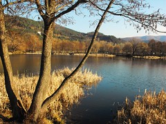 Lake Pancharevo -   (Stella VM) Tags: blue sky mountain lake beautiful landscape village bulgaria         pancharevo