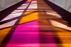 Toronto Convention Ctr 2 (josullivan.59) Tags: wallpaper orange toronto canada abstract texture geometric yellow pattern magenta artisitic nicelight 3exp canon6d torontoconventioncenter