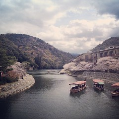 20140405_01_Uji (jam343) Tags: sky cloud river square boat spring kyoto sierra squareformat  sakura uji iphone    ujigawariver iphoneography  instagram instagramapp uploaded:by=instagram