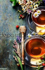 Herbal tea (shinso_o) Tags: wood morning wild food flower green cup glass beauty closeup breakfast leaf healthy strawberry warm close natural tea drink background beverage chinese lavender mint calm fresh gourmet clean health honey medicine taste concept transparent teacup relaxation aromatic herb herbal thirsty peppermint aroma refreshment scented tannin