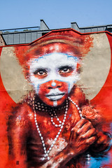 African Rose (PDKImages) Tags: street colour art beauty manchester graffiti pain african oppression murals bee walls suffering contrasts statements anthonyburgess artinthecity thoughtprovoking dalegrimshaw manchesterstreetgallery
