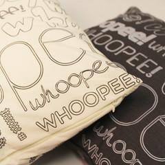 whoopee cushions grey and cream (rethinkthingsltd) Tags: pink home fun grey living bedroom funny room joke cream parry humour livingroom pillow sofa decor cushion typographic whoopee ilsa rethinkthings