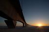 Pont de l'île de Ré (Michel Couprie) Tags: bridge light sea sun france reflection texture water architecture composition sunrise canon concrete eos arch streetlamp ile wideangle reflet reflect pont ré ilederé charente béton grandangle leverdusoleil tse24mmf35l