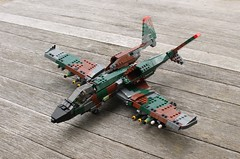 A-17 Thunderstruck (Matt Hacker) Tags: model lego gull aircraft tail attack wing jet twin boom camo corsair swept forward cas warthog a10 moc thunderstruck a17