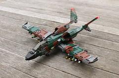 A-17 Thunderstruck (Matt Hacker) Tags: model lego gull aircraft tail attack wing jet twin boom camo corsair swept forward cas warthog a10 moc thunderstruck a17