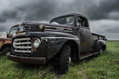 Roman God (Stubble Jumper Photography) Tags: ford abandoned rain rural truck rust mercury decay rusty pickup alberta prairie patina