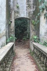 Stone gateway in a tropical rainforest in Rio de Janeiro, Brazil (eltpics) Tags: brazil stone riodejaneiro rainforest path gateway tropical through balustrade eltpics
