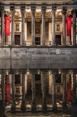 National Gallery, London, UK (davidgutierrez.co.uk) Tags: city uk greatbritain travel england people urban color colour reflection building london art colors beautiful rain museum architecture night buildings photography nikon europe cityscape colours photographer unitedkingdom bokeh britain vibrant details capital columns arts trafalgarsquare landmark structure historic nationalgallery londres colourful artmuseum londra afterrain attraction centrallondon  londyn ultrawideangle  cityofwestminster   d810 nikond810 1424mm davidgutierrez londonphotographer afsnikkor1424mmf28ged davidgutierrezphotography reflectionaftertherain