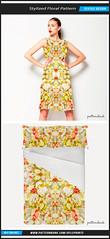 Stylized Geometric Floral (Daniel Ferreira-Leites) Tags: flowers white geometric floral modern print design warm pattern textile mirrored stylized seamless repeat flourish patternbank