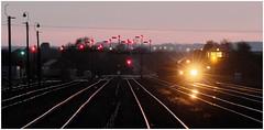 Barnetby Night Lights (Welsh Gold) Tags: train iron box junction lincolnshire signal ore santon immingham barnetby wrawby 66186 6k26