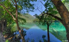 Jiuzhaigou  Mirror Lake    (Ken Goh thanks for 2 Million views) Tags: lighting longexposure sky cloud reflection nature water colors landscape photography pentax smooth sigma wideangle  1020 jiuzhaigou k1  mirfrorlake