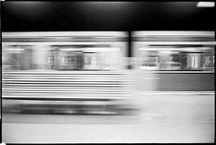 night by train - berlin II (look-book) Tags: blackandwhite bw white black berlin blancoynegro film analog train 35mm blackwhite foto noiretblanc trix bahnhof d76 fotos sw konica analogue 135 bahn hexar lookbook selfdeveloped analogous analogicas durchfahrt anlogo