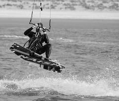 Jumping (vanderven.patrick) Tags: ocean sea beach strand jump jumping sand nikon sigma beachlife zee kitesurfing extremesports kitesurfer kijkduin d7100 150500 zandmotor