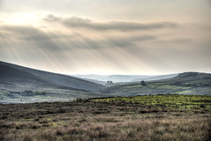Coming down from Ramshaw. (sidibousaid60) Tags: landscape nationalpark outdoor peakdistrict valley sunrays staffordshire lowsun moorlands hillsmountain