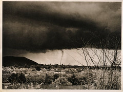 Storm from Ormes Road. (mabtud) Tags: red mamiya thanks rollei paper thomas retro filter agfa rodinal toned 80 developed printed heckmann selenium c330 fotospeed ld20 brovira bs111