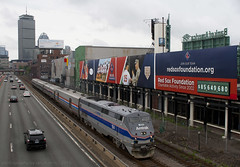 Just Like Old Times... (imartin92) Tags: park boston train massachusetts amtrak passenger mbta fenway genesis ge kenmore backbay phaseiv lakeshorelimited p42dc heritageunit worcesterline bostonsubdivision