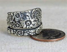 Sand Cast Wild Flowe (alaridesign) Tags: sand cast wild flower statement ring this is made order each truly one kind creation unique focal piece created with victorian silver spoo etsyfinds alaridesign silverrings uniquerings funrings boho