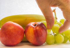 fruity (andyphillips213) Tags: fruit healthy bananas grapes apples fruity