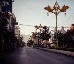 Thailand - Kanchanaburi (Cyrielle Beaubois) Tags: street city morning light thailand asia empty south thalande southeast kanchanaburi 2015 canoneos5dmarkii cyriellebeaubois
