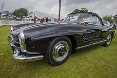 Black SL 300. (foto.pro) Tags: black cars speed mercedes power sl lap 300 pageant motorbikes cholmondley