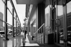 untitled (Anton Zabermach) Tags: urban blackandwhite bw film analog 35mm fence dof bokeh fujifilm nikkor acros nikonfe2 selfdeveloped microphen 50mmf18ai