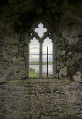 Rosserk Friary window (backpackphotography) Tags: ireland ruins ruin carving mayo hdr carvings friary franciscan rosserkfriary rosserk backpackphotography