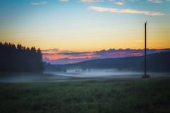 Summer morning (L.Matero) Tags: morning blue trees summer orange sunlight mist field grass fog sunrise canon finland landscape haze calm dew tamron jyvskyl f28 6d 2470