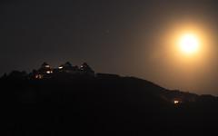 Full Moon Castle Illumination (redfurwolf) Tags: sky moon mountain night germany europe saxony full augustusburg sal70200g2 redfurwolf