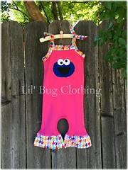 cookie monster (Lil' Bug Clothing) Tags: monster 1 cookie piece houndstooth romper