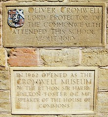 Oliver Cromwell went to school here (Tony Worrall Foto) Tags: uk england stone wall plaque memorial historic british huntingdon olivercromwell cambs cambrideshire 2012tonyworrall