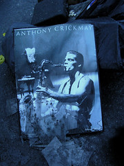 (Steini789) Tags: music broken glass poster ground saxaphone dirt anthony crickmay
