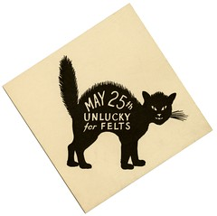 May 25th, Unlucky for Felts (Alan Mays) Tags: old cats vintage antique hats tags ephemera luck labels may13 straws blackcats unlucky superstitions felts badluck beliefs strawhats may25 felthats strawhatday