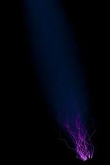 Van de Graaff Generator II (agaudin) Tags: blue black canon purple electricity physics nerdy xsi onblack vandergraaff colouronblack vandergraaffgenerator electricaldischarge canonxsi canon100mmf28lis canonef100mmf28lis
