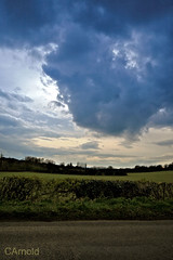 cloudy sunset (justyourcofchi) Tags: road sunset england sky sun green field clouds spring model flickr photographer surrey seale chiarnold justyourcupofchicom justyourcupofchi
