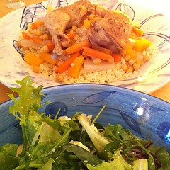 North African chicken with salad