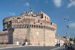ROME D5f (Patricia Fenn) Tags: travel italy vatican rome castle stone photography site europe fort landmark tourists getty walls protection attraction battlements hadriansmausoleum gettyimagesitaly