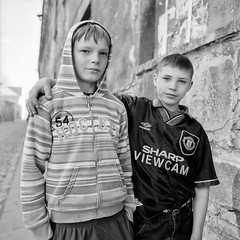 noname (I) (street boys) (flavijus) Tags: street 120 6x6 film boys bronica 100 nikkor noname vilnius foma bronicaec fomafilm100 nikkorh50mmf35