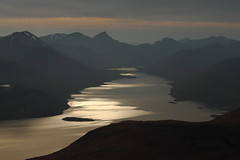 The light fades along Loch Quoich. (Chris Firth of Wakey) Tags: munros lochquoich spideanmialoch
