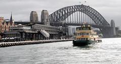 Sydney Harbour Bridge (Grant Eyre) Tags: light history water buildings landscape boats boat construction waves harbour sydney bridges textures sydneyharbourbridge