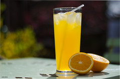 Summer Drink - Explore (BGDL) Tags: orange garden drink beverage straw explore niftyfifty nikond7000 ourdailychallenge elementsorganizer