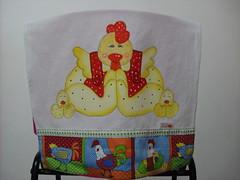 Pano de prato Galinha e pintinhos (Pintura em tecido. Panos de prato.) Tags: galinha galinhas panosdeprato panodecopa