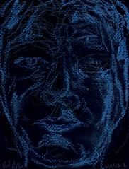 X-Ray Vision 2012.06.12 (Julia L. Kay) Tags: sanfrancisco blue portrait woman white selfportrait art water face female pencil self paper sketch san francisco artist arte purple julia kunst autoretrato kay woody daily dessin peinture portraiture 365 transparent crayon everyday left dibujo dpp handed artista stabilo coloredpencil artiste neocolor lefthanded knstler ambidextrous soluble nondominant neocolorii watersoluble inktense watersolublepencil stabilotone watersolublecrayon juliakay julialkay dailyportraitproject