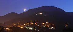 Nightfall (Lovisa Emgård) Tags: moon mountain france alps night moonlight nightfall menton