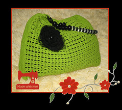 crochet bag (❀بلسم جروح❀) Tags: اسود اخضر شنطة كروشيه كروشية