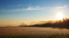 Sunrise (Timo Vehviläinen) Tags: sun mist field sunrise åland ahvenanmaa canonef1740mmf4l